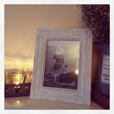 30% OFF Rustic Romance Large Rectangular Photo Frame Off White